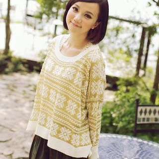 CatWorld - Loose-Fit Patterned Knit Top