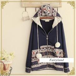 Fairyland - Nordic Print Zip Hoodie