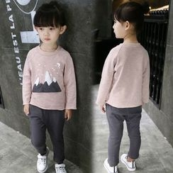 Merry Go Round - Kids Set: Long-Sleeve T-Shirt + Cropped Pants