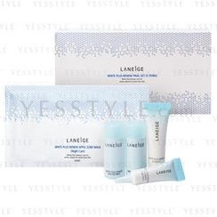 Laneige - White Plus Renew Trial Set (5 items): Refiner 15ml + Emulsion 15ml + Eye Serum 3ml + Essence 10ml + Mask