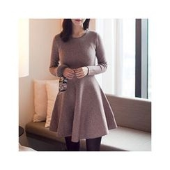 MASoeur - Wool Blend A-Line Knit Dress
