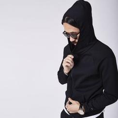 YIDESIMPLE - Raglan-Sleeved Neoprene Hoodie