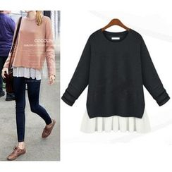 VIZZI - Ruffle Hem Sweater
