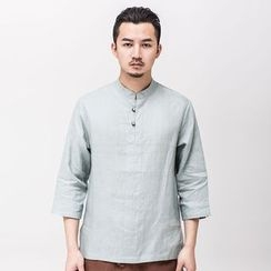 Ashen - 3/4-Sleeved Linen Shirt