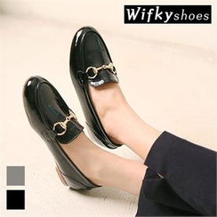 Wifky - Metal -Trim Patent Loafers
