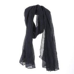 deepstyle - Cotton Blend Crinkled Scarf