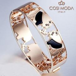 COSI MODA - Steel Bangle with Cubic Zirconia