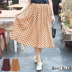 RingBear - Polka Dot Pleated Skirt