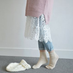 JUSTONE - Sleeveless Lace-Hem Dress