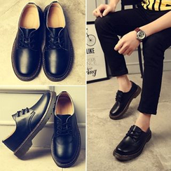 Shino - Genuine-Leather Couple Matching Casual Shoes