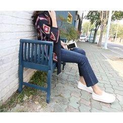 MARSHMALLOW - Maternity Fray-Hem Jeans