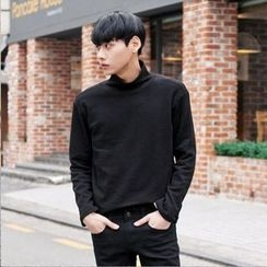 TOMONARI - Mock-Neck Long-Sleeve Top