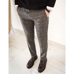 STYLEMAN - Fleece-Lined Check Pants