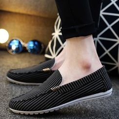 MR.GONG - Stripe Loafers