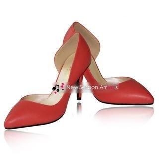 77Queen - Open-Side Pointy Pumps