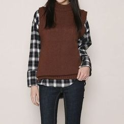Envy Look - Mock-Neck Knit Vest