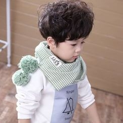 Cuckoo - Kids Gingham Bobble Scarf