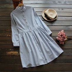 YOYO - Striped Collared Dress