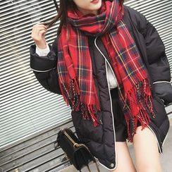 A7 SEVEN - Plaid Winter Scarf
