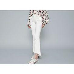 Envy Look - Fray-Hem Boot-Cut Pants