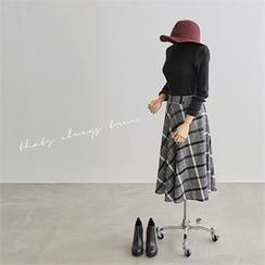PEPER - A-Line Long Skirt