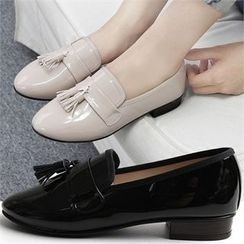 Reneve - Tasseled Almond-Toe Patent Loafers