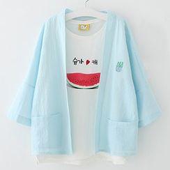 Meimei - Embroidered Linen Cotton Light Jacket