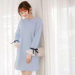 Tokyo Fashion - Frill Trim Woolen Dress