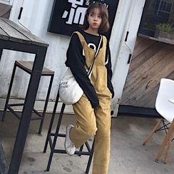 QZ Lady - Corduroy Jumper Pants