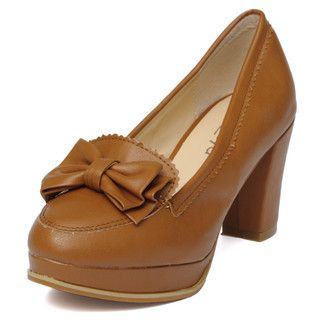 yeswalker - Bow-Accent Platform Pumps