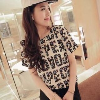 QZ Lady - Short-Sleeved Print Top