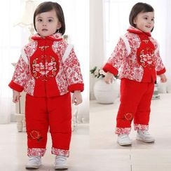 Youtale - Kids Set: Chinese Button Jacket + Pants