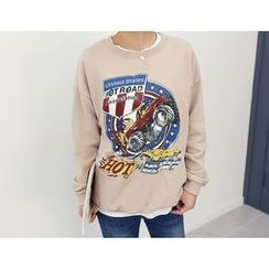 DANI LOVE - Round-Neck Printed Pullover