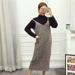 Octavia - V-neck Strap Knit Dress