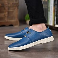 MARTUCCI - Genuine-Leather Lace-Up Casual Shoes