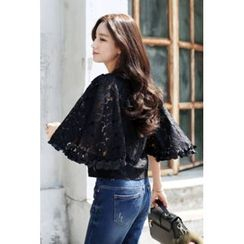 migunstyle - 3/4-Sleeve Lace Top