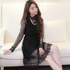 Tokyo Fashion - Mock Neck Lace Dress