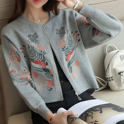 Bubbleknot - Embroidered Knit Jacket