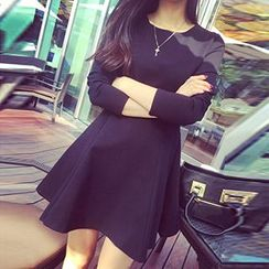 Athena - Long-Sleeve A-Line Dress