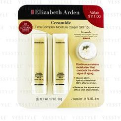 Elizabeth Arden - Ceramide Set: 2x Time Complex Moisture Cream SPF 15 50g + Advanced Time Complex Capsules 3ml