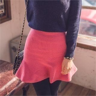 ERANZI - High-Waist A-Line Skirt