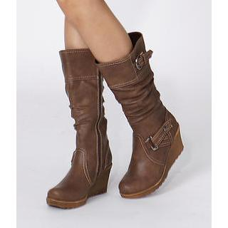 yeswalker - Buckled Wedge Boots