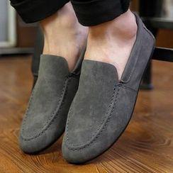 Hipsteria - 磨沙休闲套脚皮鞋