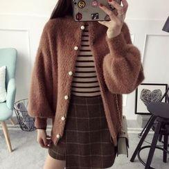 Qimi - Plain Furry Sweater
