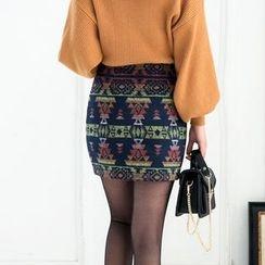 潞依韓 - 圖案短裙
