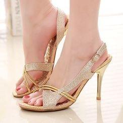 Sunsteps - Glittered Heeled Sandals