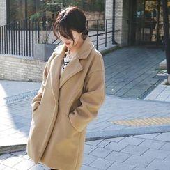 mimi&didi - Wide-Collar Hidden-Button Coat