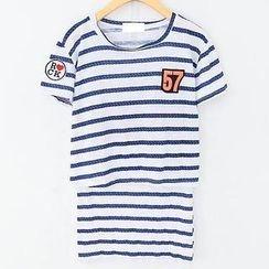 JVL - Set: Striped T-Shirt + Pencil Skirt