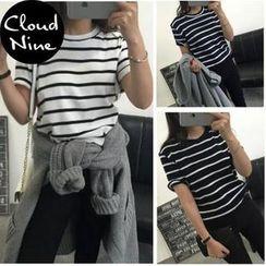 Cloud Nine - Striped Short-Sleeve T-Shirt