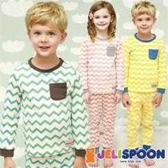 JELISPOON - Kids Pajama Set: Chevron Top + Pants